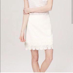 Loft lace hem skirt like new
